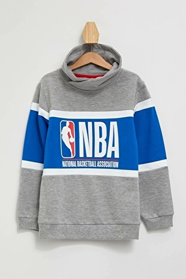 DeFacto NBA Lisanslı Slim Fit T-shirt Gri